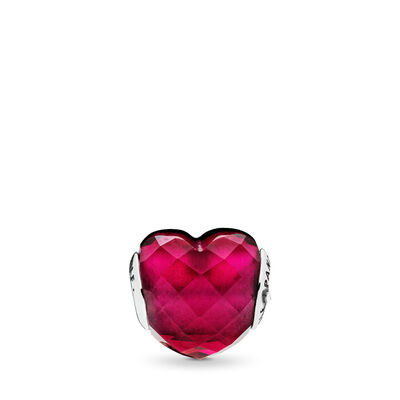 ESSENCE Charm - LIEFDE, Sterling zilver, Silicoon, Roze, Kristal - PANDORA - #796600NFR