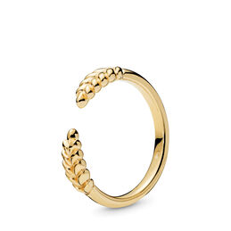 Open Grains Ring, 18k gold-plated sterlingzilver, Geen ander materiaal, Geen kleur, Geen steen - PANDORA - #167699