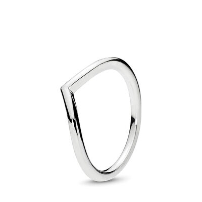 Glimmende Wishbone Ring