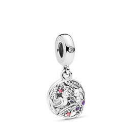 Always by your Side Charm, Sterling zilver, Emaille, Paars, Kubisch zirkonia - PANDORA - #797671CZRMX