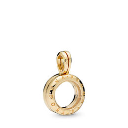 PANDORA Floating Locket Charm, 18k gold-plated sterlingzilver, Glas, Geen kleur, Geen steen - PANDORA - #767249