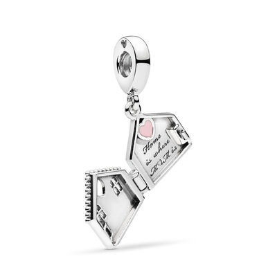 Perfect Home Charm, Sterling zilver, Emaille, Roze, Geen steen - PANDORA - #797056EN160