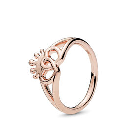 United Regal Hearts Ring, PANDORA Rose, Geen ander materiaal, Geen kleur, Geen steen - PANDORA - #187685