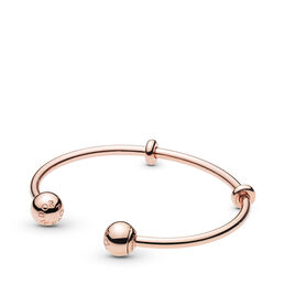 Moments PANDORA Rose Open Bangle, PANDORA Rose, Silicoon, Geen kleur, Geen steen - PANDORA - #586477