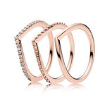 PANDORA ROSE Wishbone Ringstack