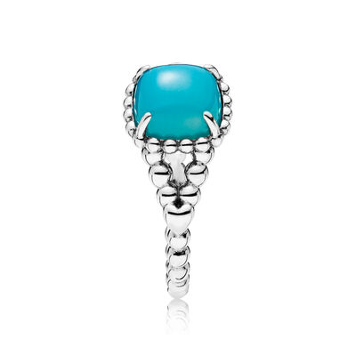 Blue Vibrant Spirit Ring, Sterling zilver, Geen ander materiaal, Blauw, Kristal - PANDORA - #197188NSC