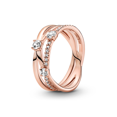 Sparkling Triple Band Ring
