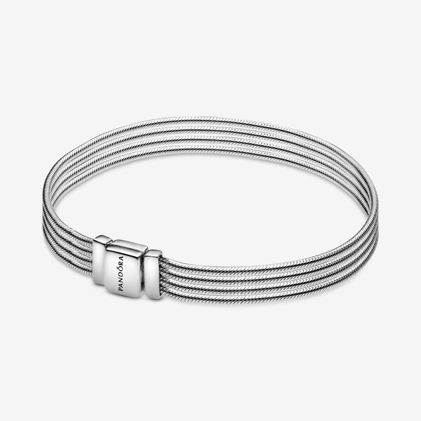 Image of Pandora Reflexions Multi Snake Chain Armband, Bedels & Armband uit Sterling zilver, No stone, No color, 597943-15