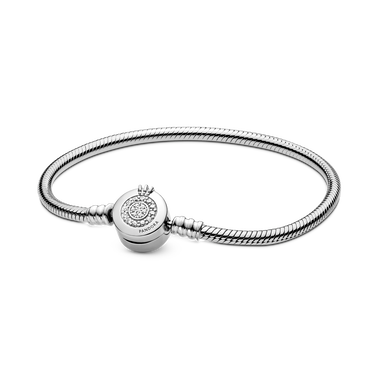 Pandora Moments Sprankelende Crown O Snake Chain Armband
