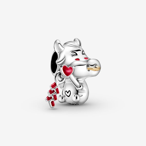 Image of PANDORA Cute Ox Charm, Collections, No stone, Rood, 799268C01