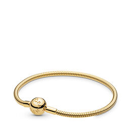 Moments Smooth PANDORA Shine Clasp Armband, 18k gold-plated sterlingzilver, Geen ander materiaal, Geen kleur, Geen steen - PANDORA - #567107