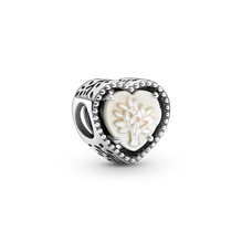 Openwork Heart & Family Tree Charm