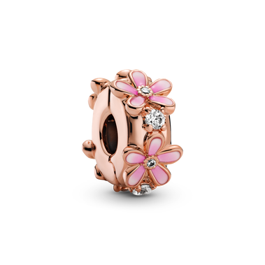Pink Daisy Spacer Clip Charm
