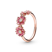 Roze Madeliefjes Trio Ring