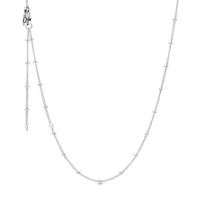 Silver Beaded collier