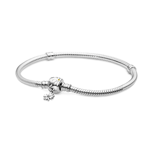 Pandora Moments Snake Chain Armband met Madeliefje Sluiting