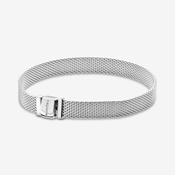 Image of Pandora Reflexions Mesh Armband, Bedels & Armband uit Sterling zilver, No stone, No color, 597712-15