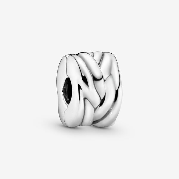 Image of PANDORA Braided Clip Bedel, Collections uit Sterling zilver, No stone, No color, 791774