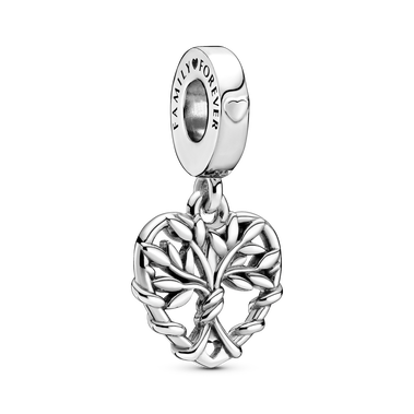 Heart Family Tree Dangle Charm
