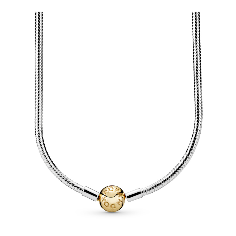 Zilver & gouden charm collier - Moments collectie