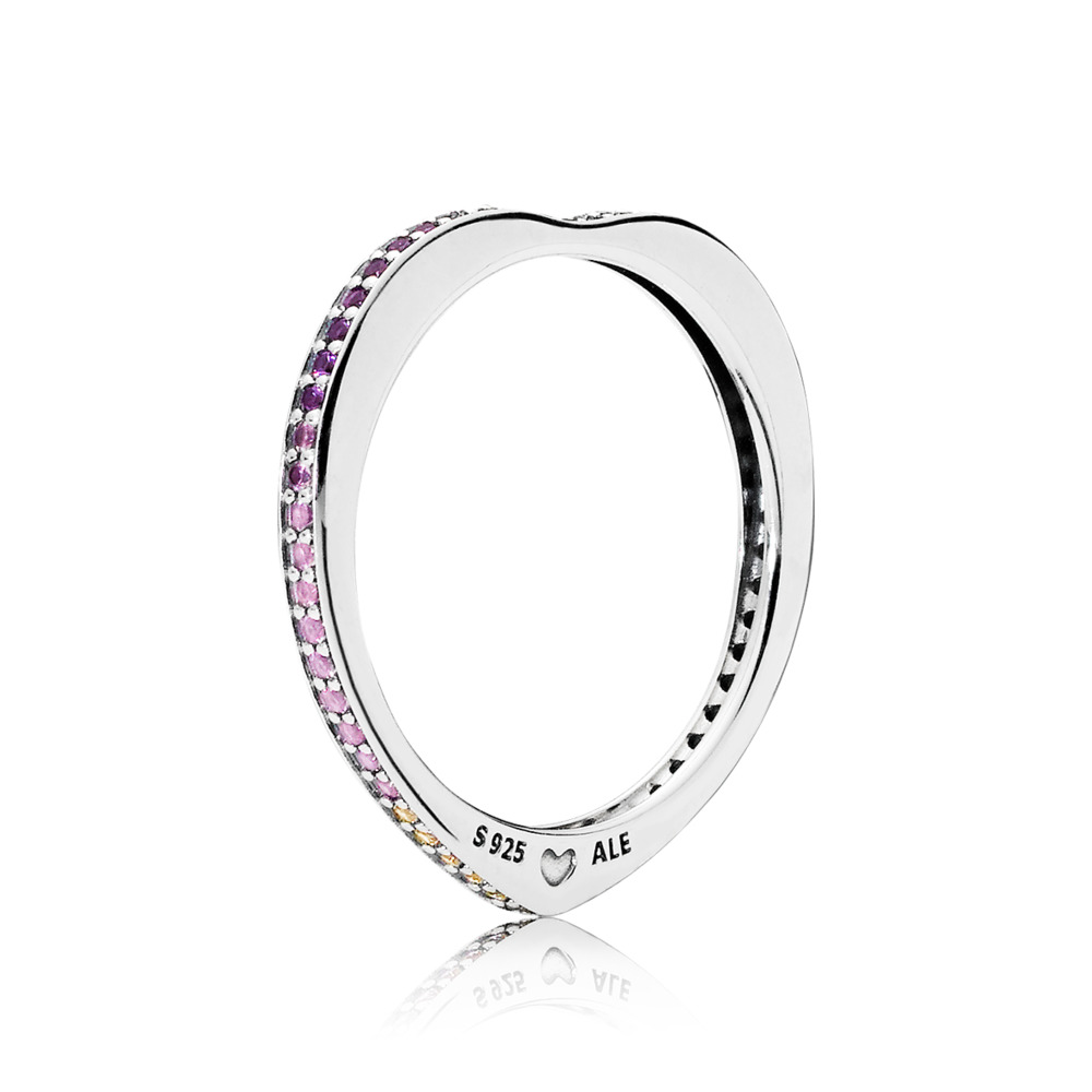 Multi-colour Arc of Love Ring